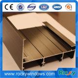 Color champagne de la ventana de aluminio anodizado de perfiles de aluminio