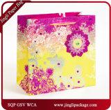 Подарок бумажной хозяйственной сумки флористический напечатанный кладет флористический мешок в мешки подарка мешков подарка покупкы