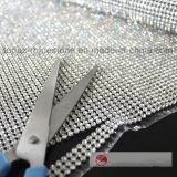최신 고침 접착성 명확한 유리제 모조 다이아몬드 메시 그물을 삭감해 각자