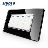 Livolo中国ホームAppliancepushボタンの壁スイッチ(VL-C3K4S-81/82)