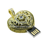 Stok van de Vorm USB van het Hart van juwelen USB3.0 de MiniUSB Pendrive