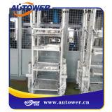 Bewegliche Jobstepp-Strichleiter mit Sicherheits-Korb