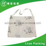 Bolso blanco reutilizable respetuoso del medio ambiente impreso cuadro de encargo promocional de la lona del bolso de totalizador del algodón