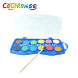 De kunst levert de Cake van de Kleur van het Water van 12*2.3cm, Aquarelle, W1223