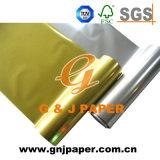 ケーキの包装紙のための金かスライバによって金属で処理されるペーパー