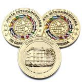Recuerdos personalizados decoración conmemorativa de metal de la seguridad Canadian Maple Leaf réplica Gold 2 monedas de euro