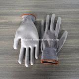 Перчатки работы ладони PU вкладыша полиэфира высокого качества серые