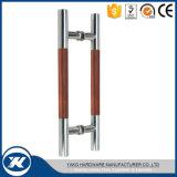 Traitement en verre de traction de porte grillagée d'acier inoxydable de constructeur de la Chine