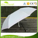 Guarda-chuva relativo à promoção da dobra do bolso 5 do eixo de alumínio para a senhora