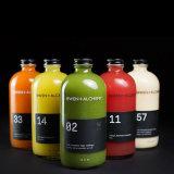واضحة [16وز] بوسطن مستديرة زجاجيّة عصير زجاجة مع ألومنيوم غطاء