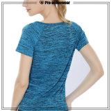 새로운 디자인 여자 적당 컴퓨레스 착용 Breathable t-셔츠