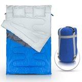 Saco de sono dobro por atacado para Backpacking, acampar, ou caminhar. Tamanho XL da rainha! Saco de sono impermeável da pessoa do tempo frio 2 para adultos ou adolescentes. Caminhão, barraca