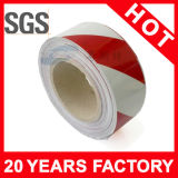 Roter und weißer Fußboden-anhaftendes Vorsicht-Band (YST-FT-006)