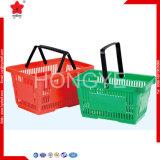 Cesta plástica da cesta de compra do mantimento para o supermercado