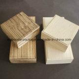 Rectángulo de madera del conjunto de la joyería del regalo de encargo más nuevo del funcionamiento de la alta calidad 2017