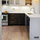 Kkr подгоняло белый Countertop кухни кварца верхней части кухни
