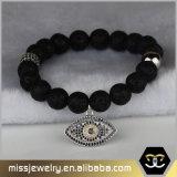 Braccialetto del branello di fascino dell'occhio diabolico, braccialetti bordati Mjb018 delle donne