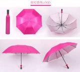 Paraguas promocional del regalo de la botella revestida de la hebra