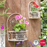 Stand d'usine de fleur en métal de jardin avec le bac