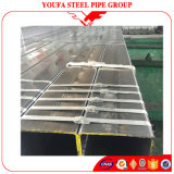 Tubo de acero rectangular del tubo del cuadrado del hierro del carbón del negro del material de construcción