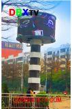 Cercle Balle incurvée Personal Design extérieur de l'écran LED pour la location d'annonce