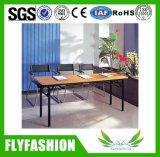 Meubles en bois Table de Formation en bois de pliage avec des roues (SF-05F)