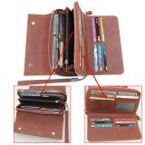 Высокое качество длинных денег кошелек мужская Кожаное портмоне