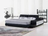 Base di cuoio piena di memoria della mobilia domestica moderna con il blocco per grafici di legno