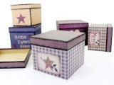 Бумага печать подарочная упаковка, ювелирные изделия гофрированной окно для отображения