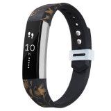 Correa impresa única al por mayor de la pulsera de reloj del silicón para la venda del silicón de Fitbit Alta