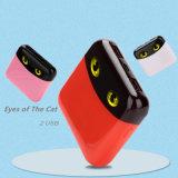 la Banca di potere di modo 4000mAh con gli occhi dei gatti si raddoppia porte del USB