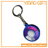 Trousseau de clés de PVC de modèle de mode pour le cadeau promotionnel