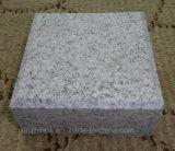 銀製灰色の花こう岩の立方体の景色または庭の花こう岩の敷石