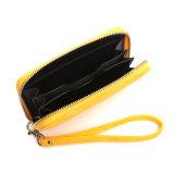 밝은 노란 Zip는 꾸몄다 토시 지갑 (MBNO043114)지퍼로 잠그 의 주위에 저녁을