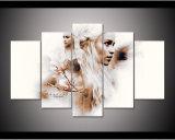 Gestalteter HD Druck 5PCS Throne Daenerys Targaryen der Segeltuch-Kunst, die modernen Hauptdekor-Wand-Kunst-Abbildung-Farbanstrich anstreicht