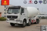 Siontruk HOWO 8X4の貨物自動車のコンクリートミキサー車