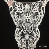 garniture ronde de raffinage élevée de lacet de collier de mode de polyester brodée par 32*45cm pour la sortie d'usine de Madame Garment Hml8554 avec la configuration personnalisée