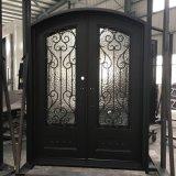 Portello di entrata modellato principale esterno del ferro del lusso doppio