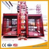 Double élévateur de construction d'élévateur de passager de Gjj de cage de Sc200/200 2ton