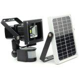 Nuevo 6V 10W 80 4000 mAh Panel Solar Farol Solar LED con Sensor PIR