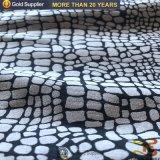 Tessuto della pelle scamosciata del poliestere di timbratura di oro del serpente per il sofà o i rivestimenti