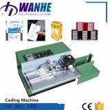 Máquina continua de la codificación de la fecha de la rueda de la tinta para el rectángulo del cartón de las etiquetas engomadas