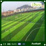 Decoración de jardines de césped artificial sintético de fútbol