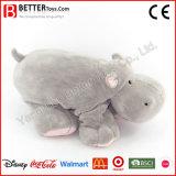 Weiche Liebkosung-angefülltes Tier-Plüsch-Flusspferd-Spielwaren für Baby-Kinder