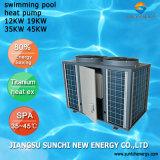 35kw/70kw Save70% elektrischer Luft-Quellwärmepumpe-Swimmingpool