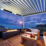 Pérgola al aire libre del metal de la azotea de Horizental Louvred del jardín en talla modificada para requisitos particulares