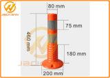 Poste d'avertissement r3fléchissant imperméable à l'eau de l'orange 45cm Roadtraffic