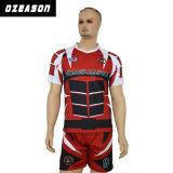 Nessuna camicia di rugby degli abiti sportivi di MOQ, asciuga la camicia su ordinazione adatta di rugby