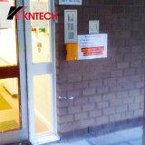 Site de emergência para salas brancas telefone intercomunicador de porta na estrada