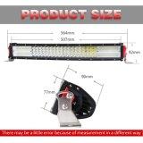 Barre tous terrains d'éclairage LED de CREE de boîtier de la quarte 384W 22 de rangée en aluminium en gros de pouce 4 pour le camion de la jeep 4X4